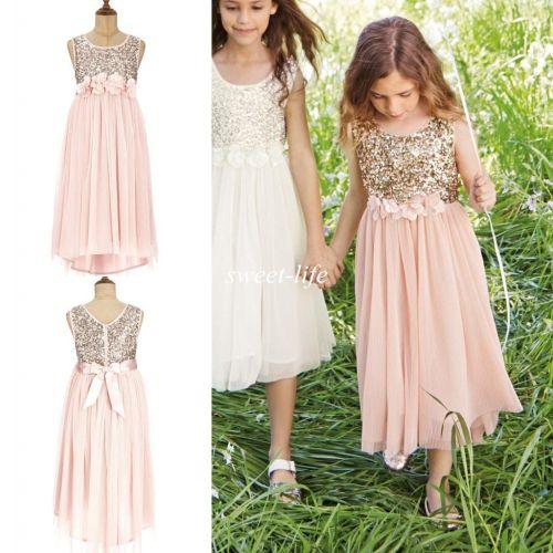 Medium Of Gold Flower Girl Dresses