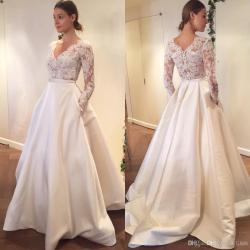 Small Crop Of Aline Wedding Dress