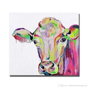 Jolly Living Room Wall Hand Painted Oil Painting Living Room Wall Hand Painted Oil Painting Homedecor Wall S Canvas Art Cheap No Framed Ful Cow Art Painting Ful Cow Art Painting