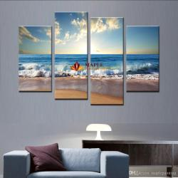 Supreme 2018 Large Canvas Art Wall Hot Beach Seascape Wall Painting Homedecorative Art Paint On Canvas Prints S From 2018 Large Canvas Art Wall Hot Beach Seascape Wall Painting