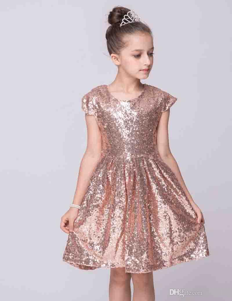 White Girl Xmas Ceremony 2016 Summer Princess Sequined Dress Teenagers Girlsschool Prom Gowns Dresses Kids Formal Clos Baby Dress Online On Girl Xmas Ceremony 2016 Summer Princess Sequined Dress Teena wedding dress Dresses For Teenagers