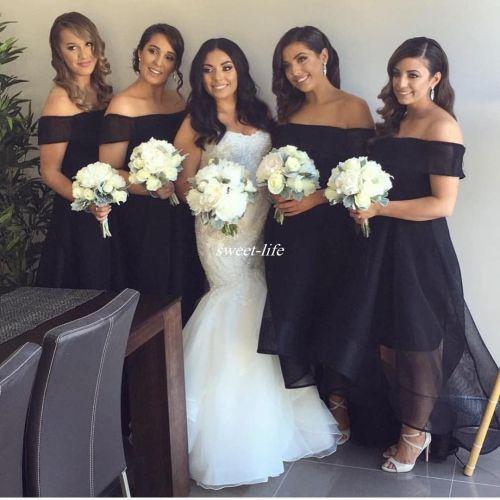 Medium Crop Of Black Bridesmaid Dresses