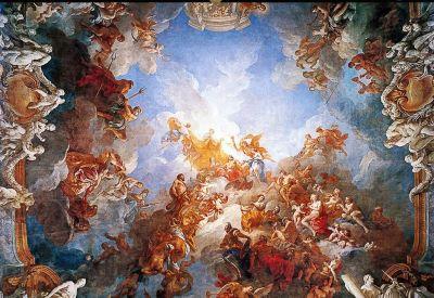 Custom Photo Murals Renaissance Classical Zenith Oil Painting 3d Ceiling Murals Wallpaper ...