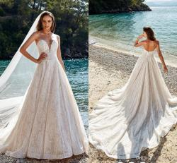 Favorite Discount Eddy Princess Fairy Wedding Dresses 2018 Modest Sweeartcadral Train Full Lace Backless Beach Holiday Bridal Wedding Gowndesigner Wedding Discount Eddy Princess Fairy Wedding Dresses