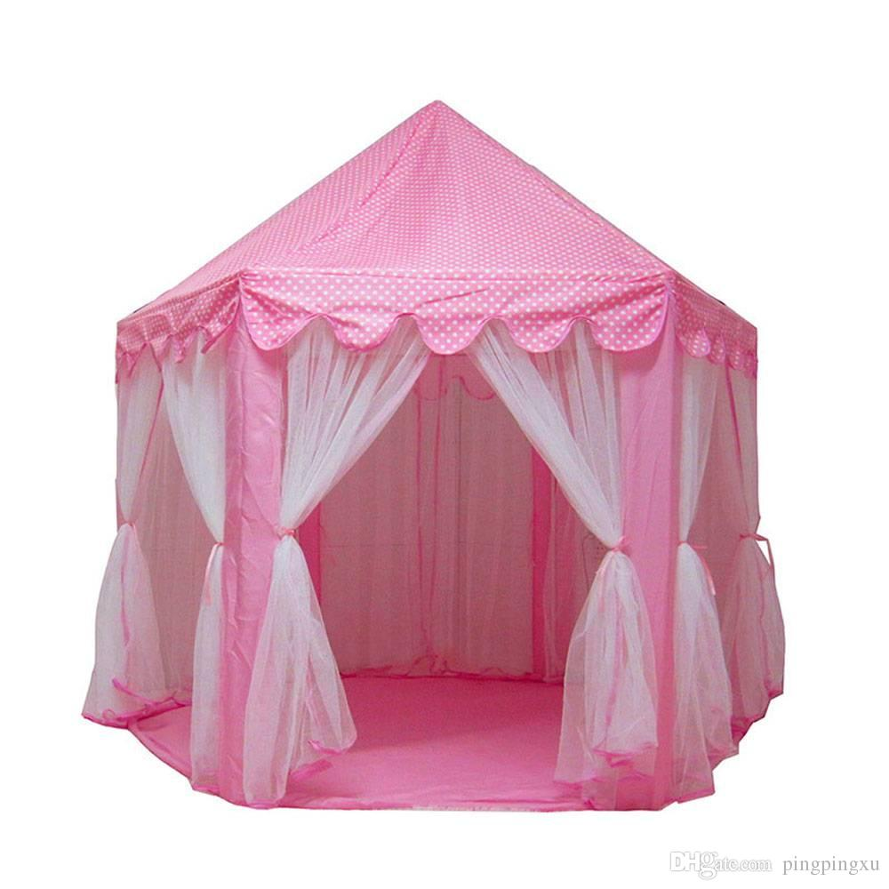 Endearing Princess Castle Play House Large Outdoor Kids Play Tent Girls Girls Pink Doormosquito Net Solar Mosquito Killer From Princess Castle Play House Large Outdoor Kids Play Tent baby Kids Play Tent