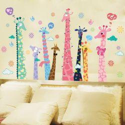 Congenial Extra Large Colorful Giraffe Wall Decals Sticker Kids Room Nursery Wallart Mural Poster Cartoon Animals Extra Large Colorful Giraffe Wall Decals Sticker Kids Room Nursery art Nursery Wall Art