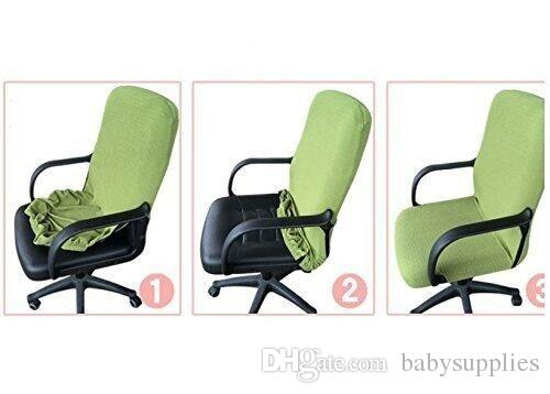 Slipcovers Cloth Office Chair Pads Removable Cover Stretch Cushion  Resilient Fabric Cloth Computer Chair S54