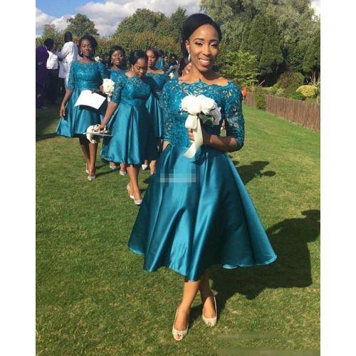Medium Crop Of Tea Length Bridesmaid Dresses