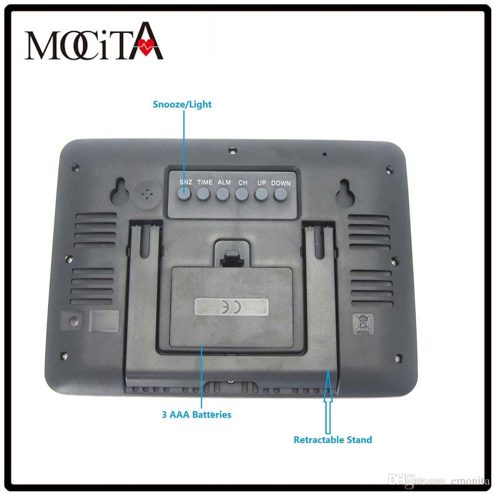 Popular Wear Mocita Digital Clock Wireless Rcc Wear Stationwith Blue Backlight Wear 2018 Mocita Digital Clock Wireless Rcc Wear Station furniture Pretty Digital Clock
