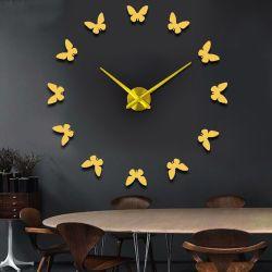Charmful Watches Wall Sticker Home Decoration Mirror Digital Wall Clock Design Large Wall Clocks Watches Wall Sticker Home Decoration Mirror Digital Wall