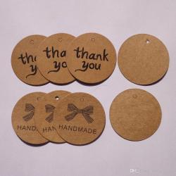 Dark Wedding Brown Kraft Paper Hang Tags Scalloped Circle Thank You Tagsbonbonniere Favour Gift Tags Cards Wedding Brown Kraft Paper Hang Tags Scalloped Circle Thank You Tags