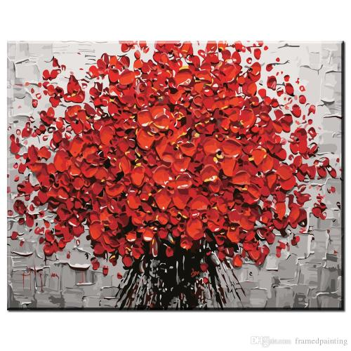 Medium Of Abstract Flower Paintings