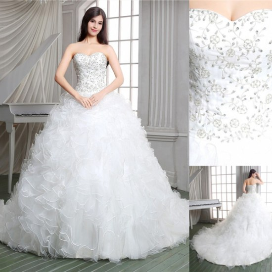 3aff0ff7cf Real Pictures 2015 White Ball Gown Church Designer Wedding Dresses Luxury  Applique Lace Up Court Train Sheer Bridal Gowns Sweetheart Ruffled