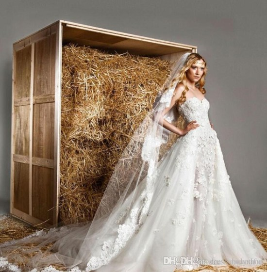 zuhair murad lace wedding dress with detachable train sexy lace applique  sweetheart royal princess vintage style bridal gown 178bdf367a16
