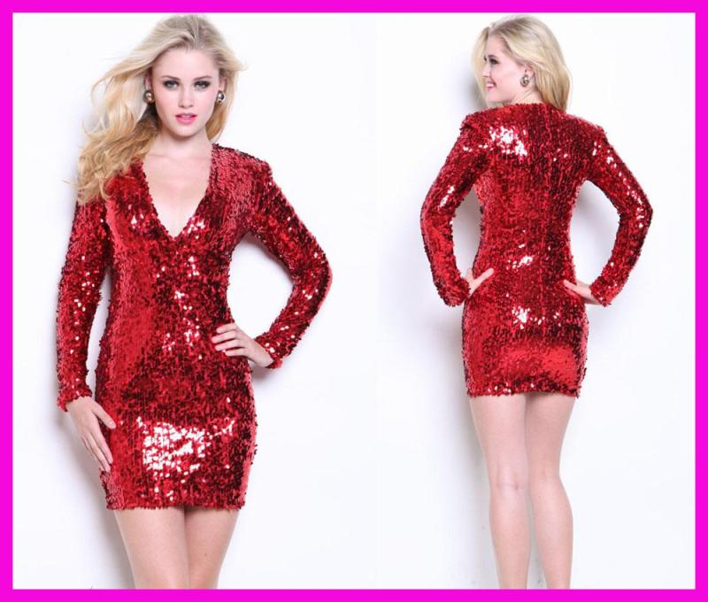 Large Of Red Sequin Dress