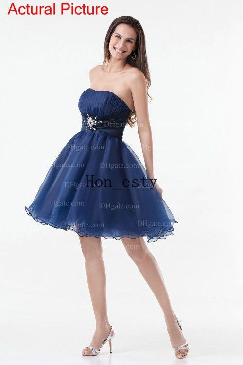 Medium Of Navy Blue Cocktail Dress