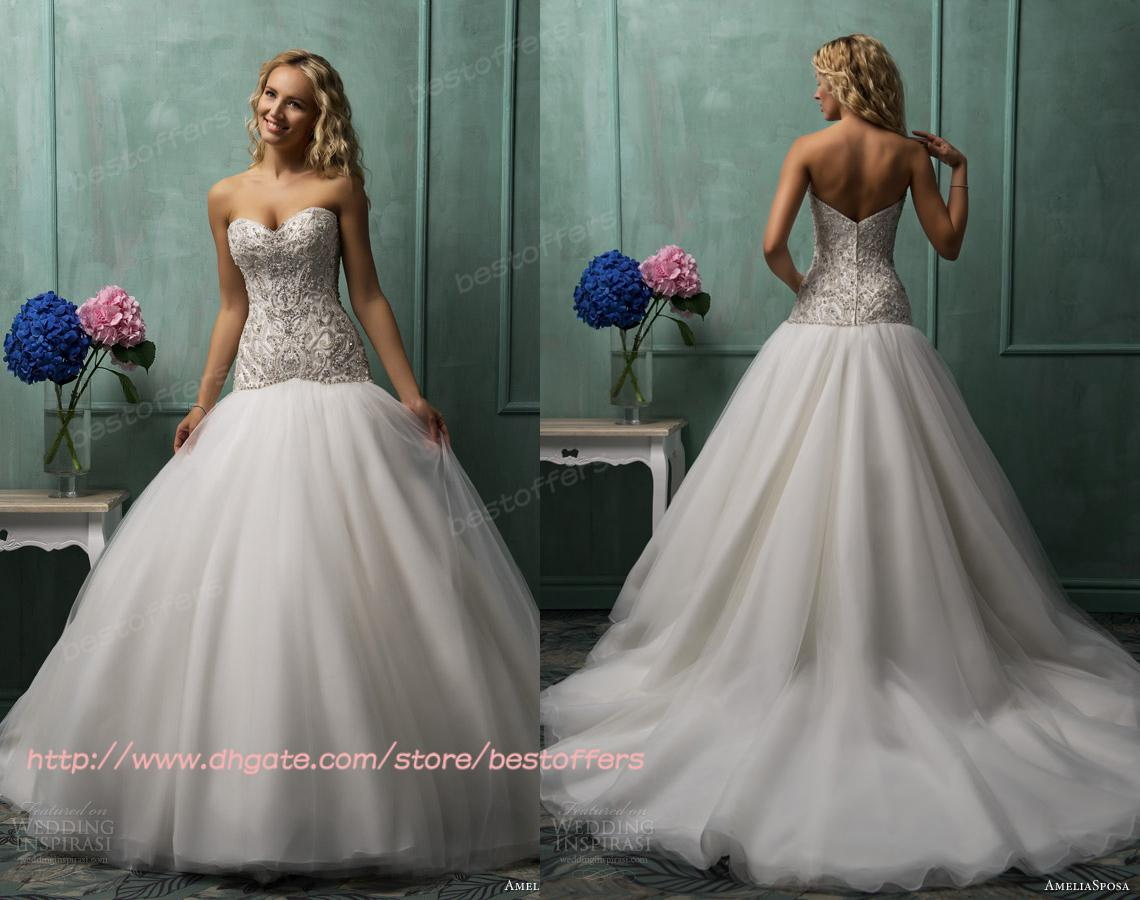 Fullsize Of Drop Waist Wedding Dress