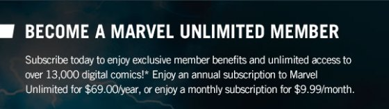 Become a Marvel Unlimited Member