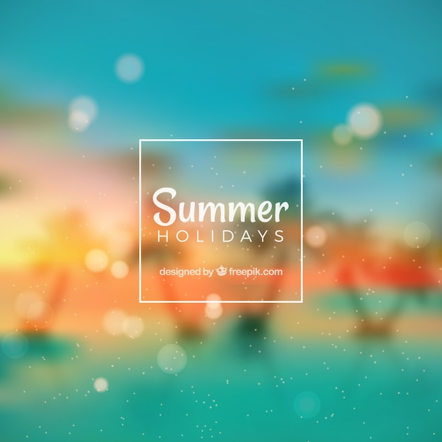 Blurred summer backgroung Vector   Free Download Blurred summer backgroung Free Vector