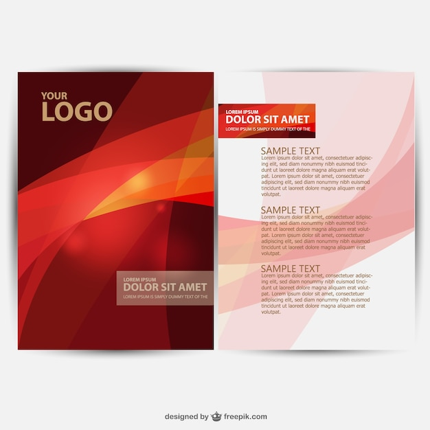 Brochure design vector Vector   Free Download Brochure design vector Free Vector