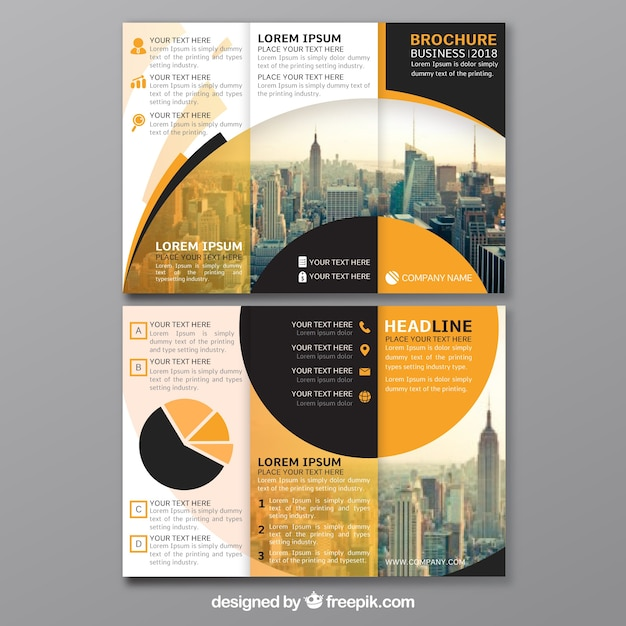 Creative trifold flyer template Vector   Free Download Creative trifold flyer template Free Vector
