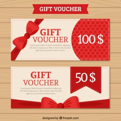 Gift voucher pack Vector | Free Download