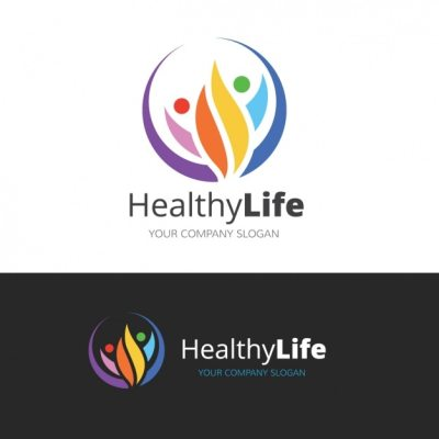 Logo about a healthy lifestyle Vector | Free Download