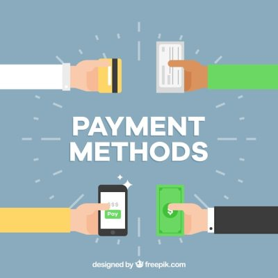 Payment methods background design Vector | Free Download