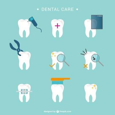 Ícones dente atendimento odontológico | Baixar vetores grátis