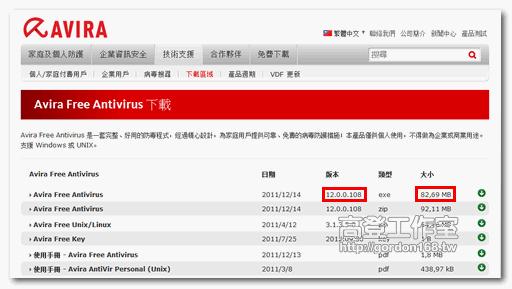 小紅傘2012免費防毒軟體中文版 Avira Free Antivirus 2012 2012 1