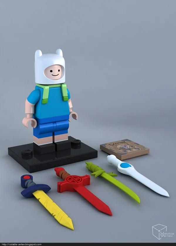 LEGO персонажи с мультсериала Adventure Time Ink