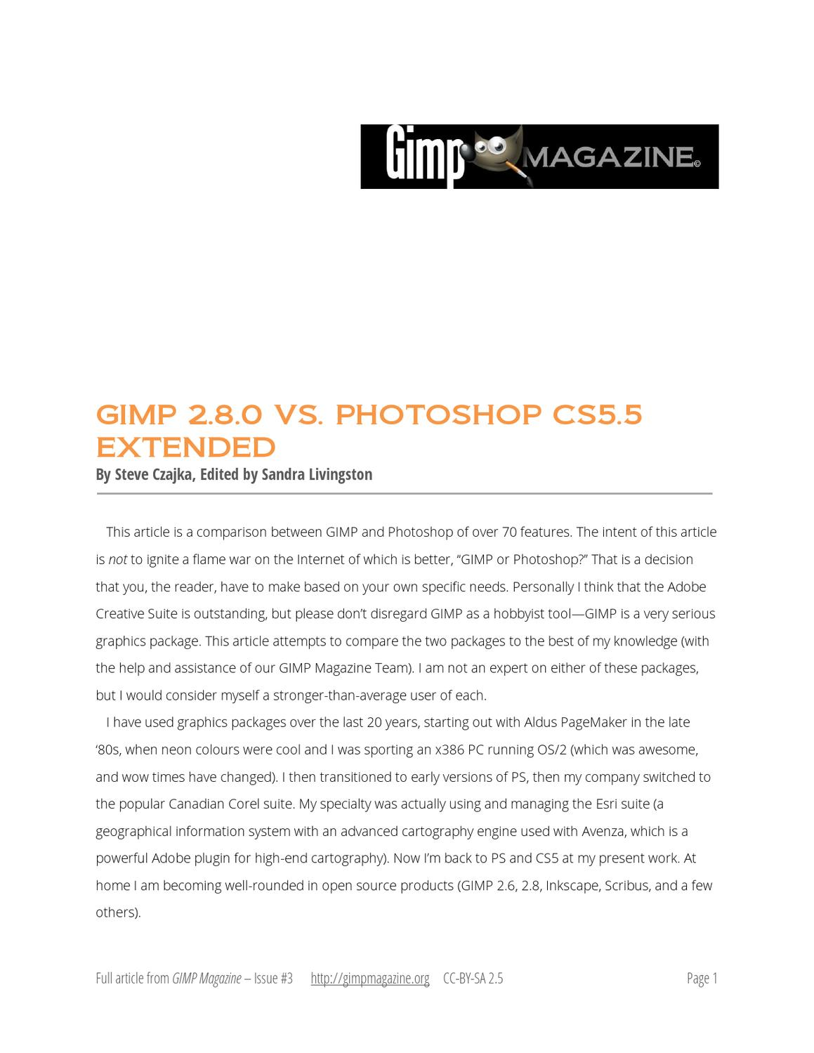 Mesmerizing Gimp Magazine Paper Gimp Vs Photoshop Comparison By Gimp Magazine Gimp Magazine Paper Gimp Vs Photoshop Comparison By Gimp Photoshop Gimp Comparison Photoshop Vs Gimpshop dpreview Photoshop Vs Gimp