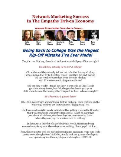 Network Marketing Success - That Davinator Guy by Davin Ogden - Issuu