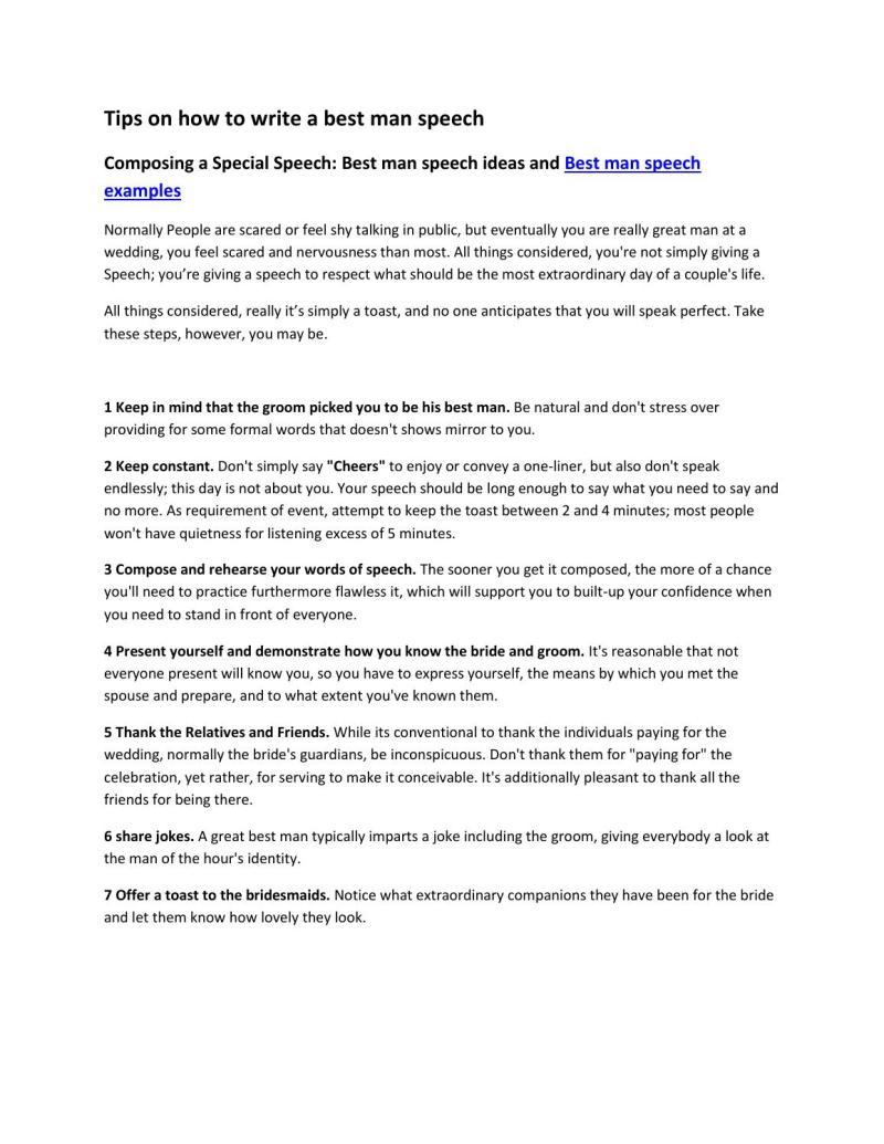 Large Of Best Man Speech Examples