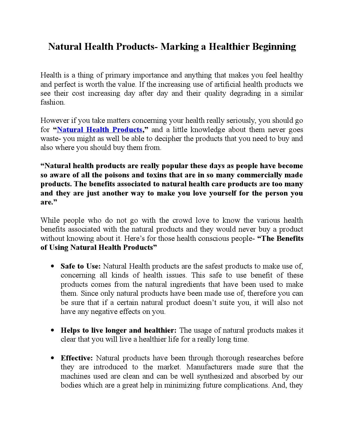 Enticing Health Marking A Healthier Beginning By John Venes Issuu Health Marking A Healthier Beginning By John Venes Health Products Benefit Walgreens inspiration Health Products Benefit