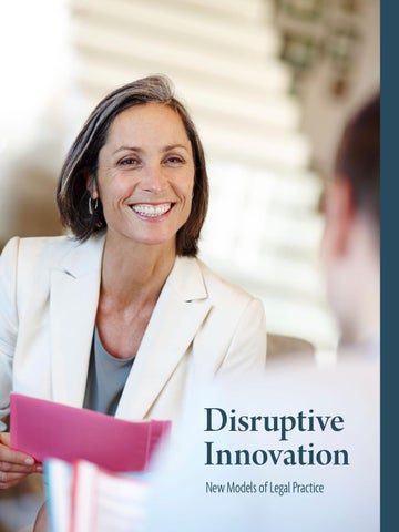 Disruptive Innovation: New Models of Legal Practice by ...