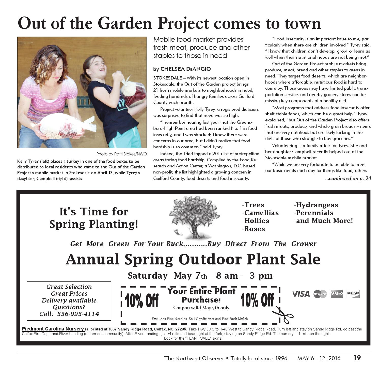 Flagrant Garden Project Warehouse Northwest Observer May 2016 By Pscommunications Issuu Out Garden Project Point Nc Out garden Out Of The Garden Project