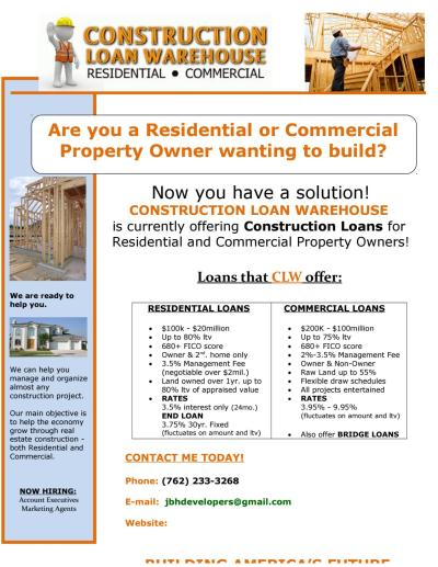 Construction loan flyer (1) (1) by JBH Financial Brokerage - Issuu