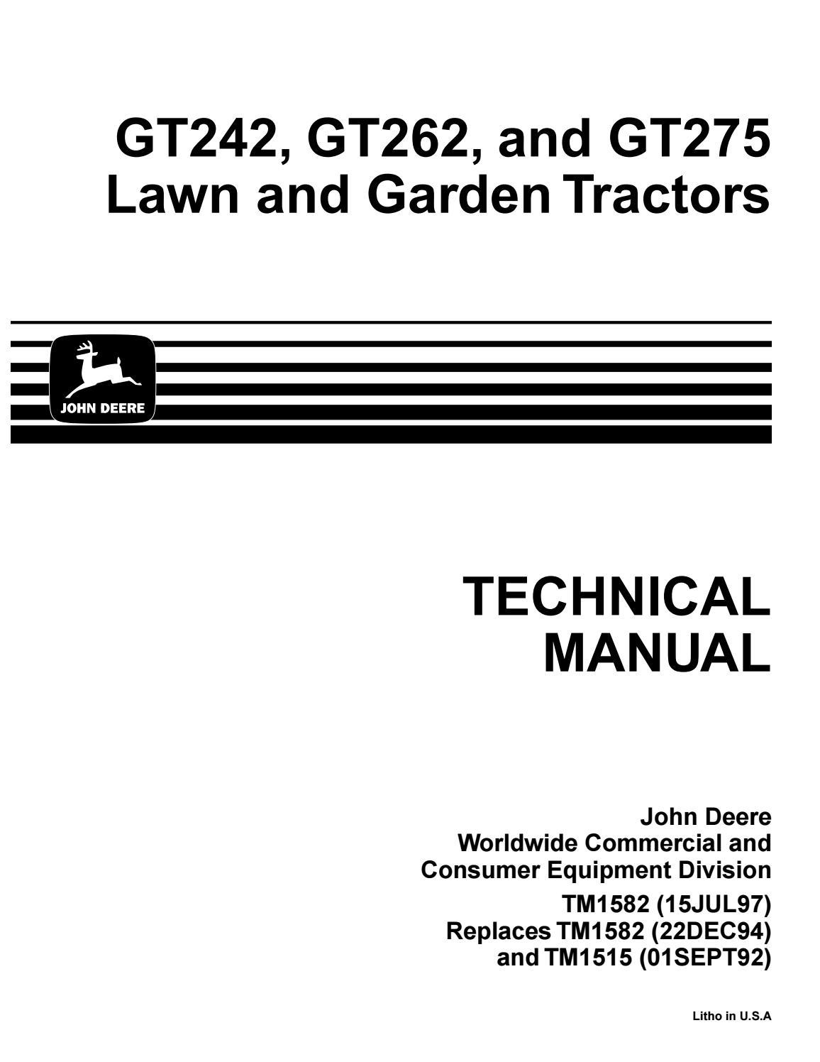 Elegant John Deere Lawn Garden Tractor Service Repair Manual By Jhjsnefnn John Deere Lawn Garden Tractor Service Repair Manual By John Deere Gt275 Deck Belt John Deere Gt275 Drive Belt houzz-03 John Deere Gt275