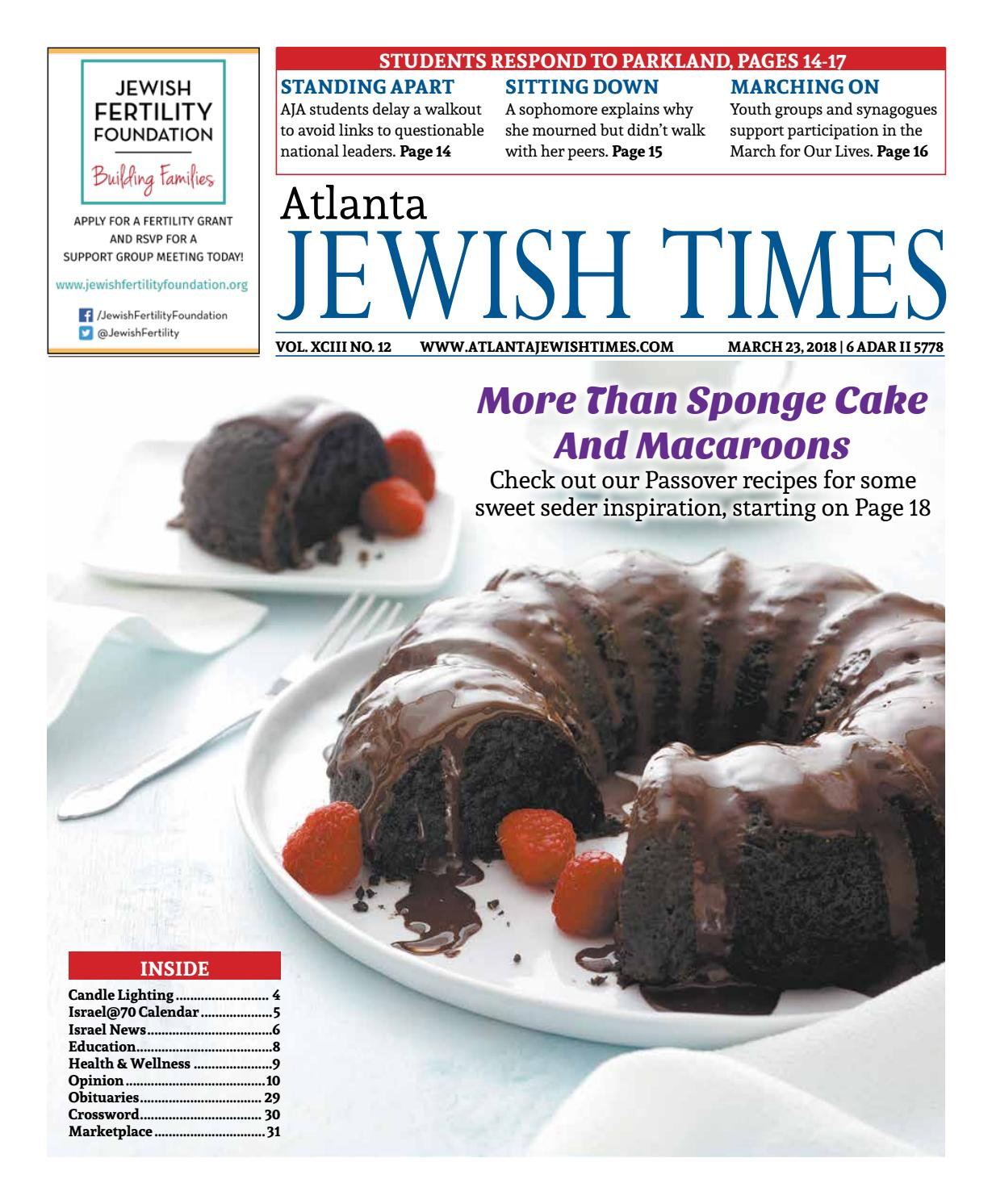 Diverting March 2018 By Atlanta Jewish Times Issuu Atlanta Jewish Xciii March 2018 By Atlanta Gourmet Passover Recipes 2018 Easy Passover Recipes 2018 nice food Passover Recipes 2018