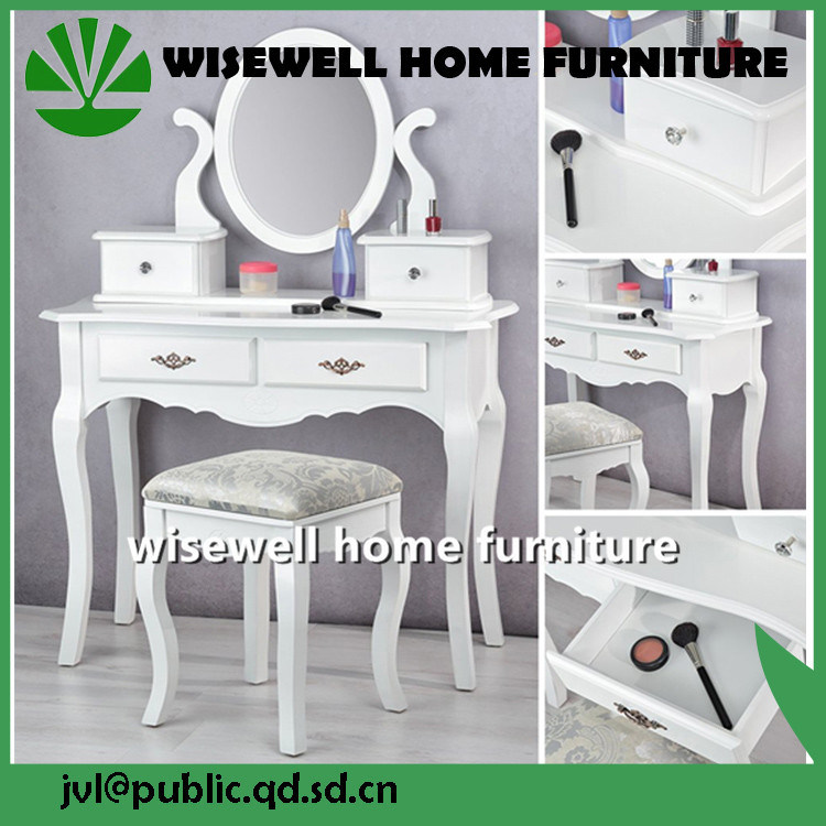 China Songmics Large Dressing Table Set Makeup Desk With Cushioned Stool 4  Drawers Easy To Assemble White Color  Makeup Desk Easy Assemble Dresser C77
