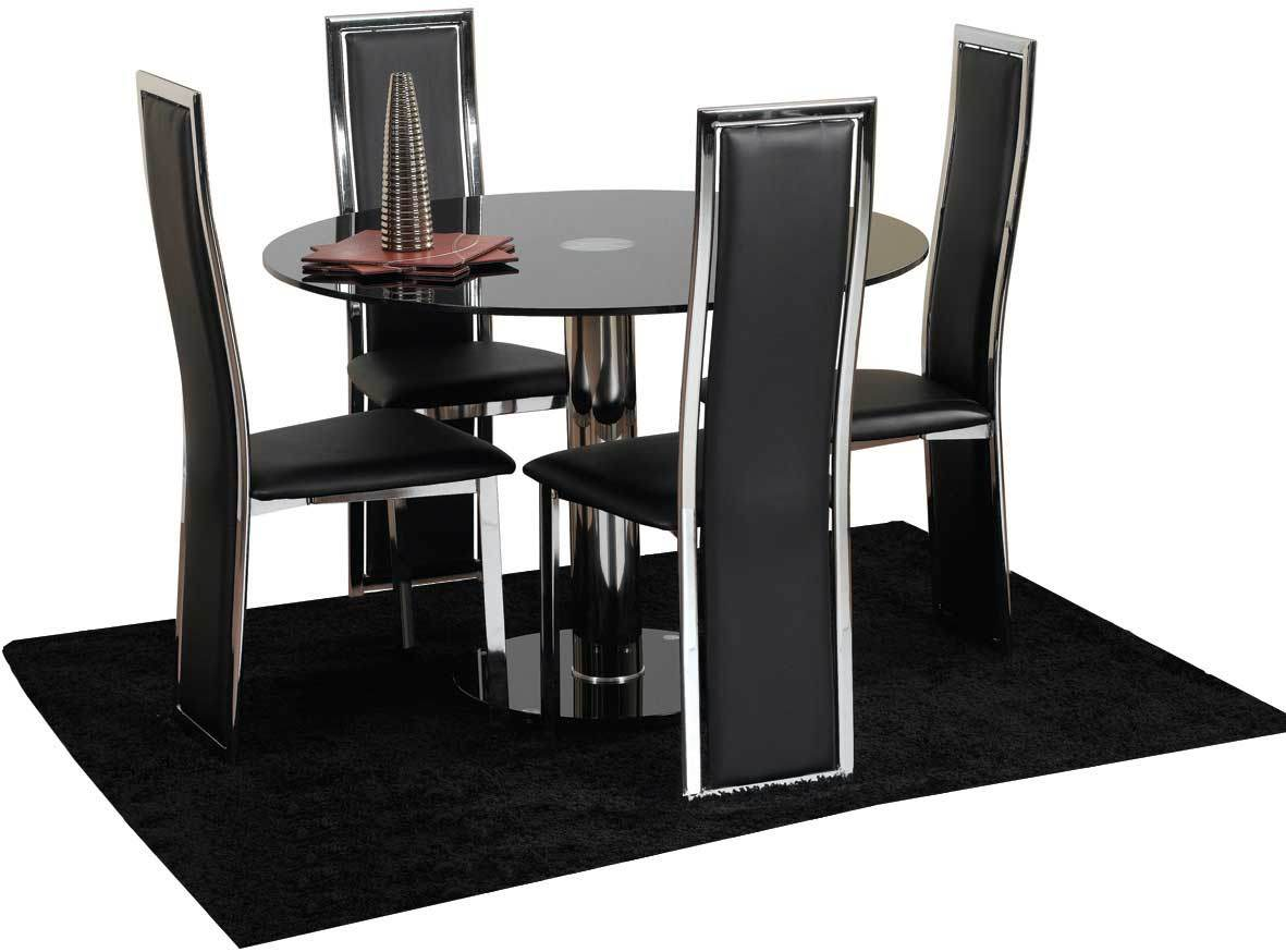 4 chair dining table kitchen table chairs Chairs Next Day Delivery Hampton cm Glass Dining Table