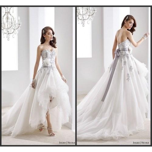 Medium Crop Of High Low Wedding Dress