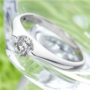 PT900 プラチナ 0.3ctダイヤリング 指輪 パサバリング 13号