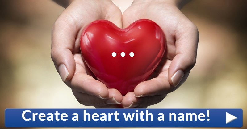 Create a heart with a name