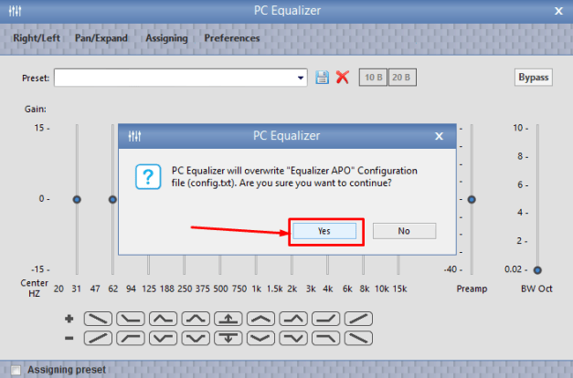 PC Equalizer GUI for Windows 7/8.1/10