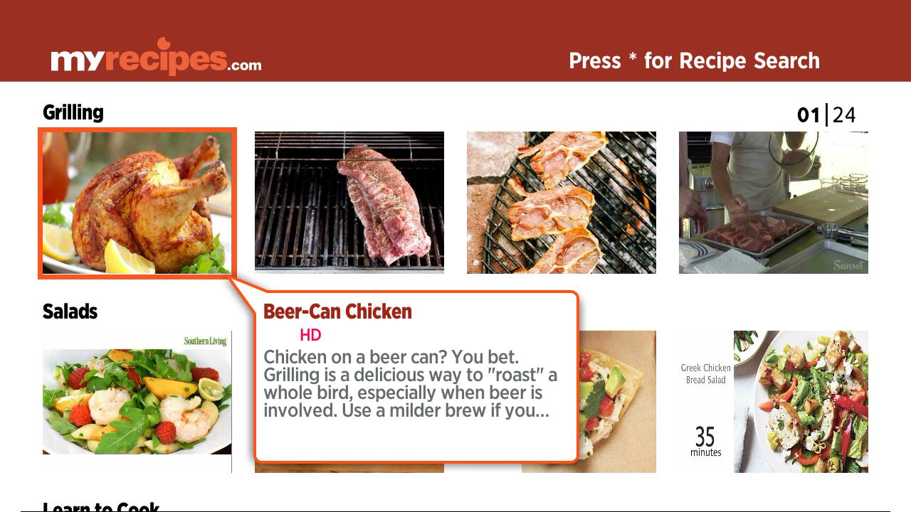 MyRecipes.com | Food | Roku Channel Store