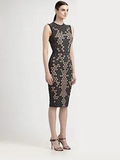 Alexander McQueen - Lace Print Jersey Dress
