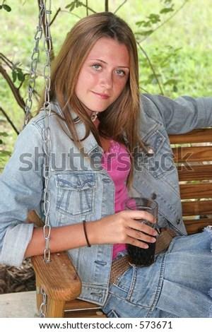 teen playground swing
