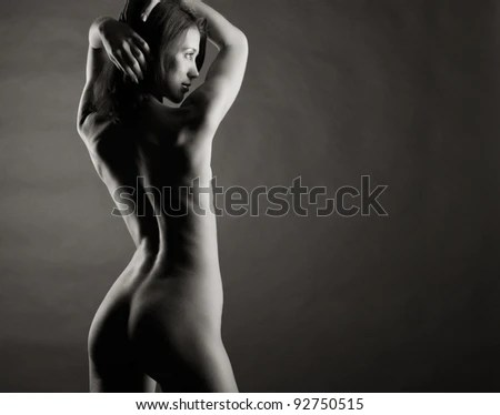 toned female body naked